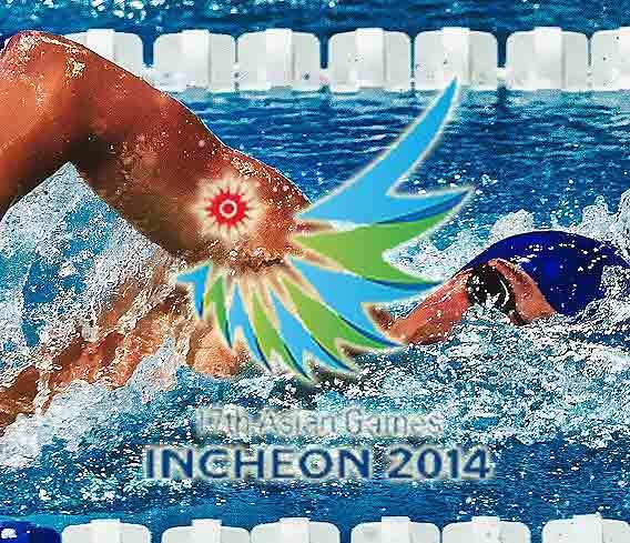 Asian games 2014 Aquatics Swimming Results