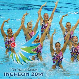 Asian Games 2014 Synchronized Swimming Results